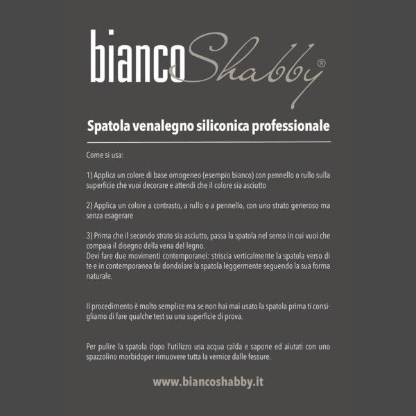Bianco Shabby Venalegno spatola professionale in gomma siliconica