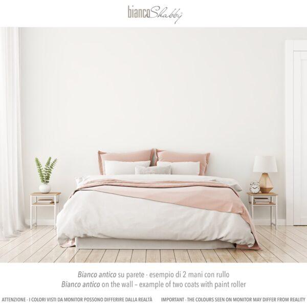 Parete Muro con chalk paint Bianco Antico