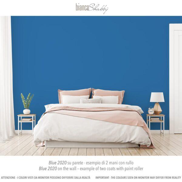 Parete Muro con chalk paint Blue 2020