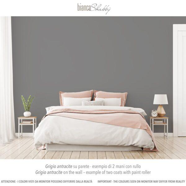 Parete Muro con chalk paint Grigio Antracite