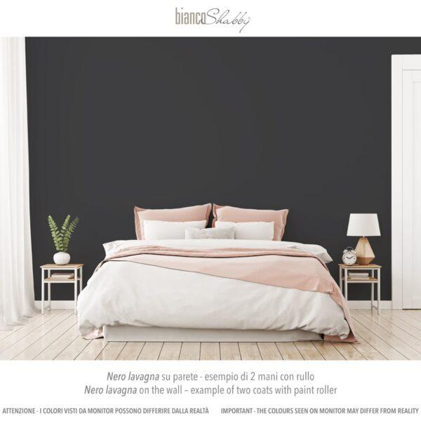 Parete Muro con chalk paint Nero Lavagna