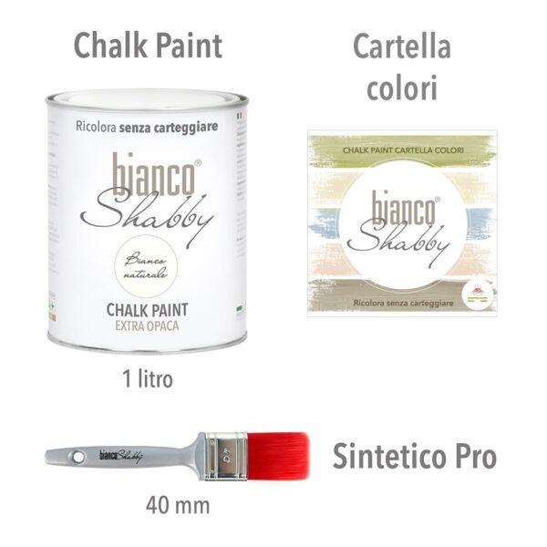 Bianco Naturale Cartella Colori Pennello Min