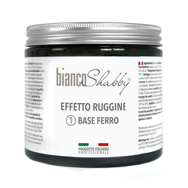 BASE FERRO EFFETTO RUGGINE BIANCO SHABBY