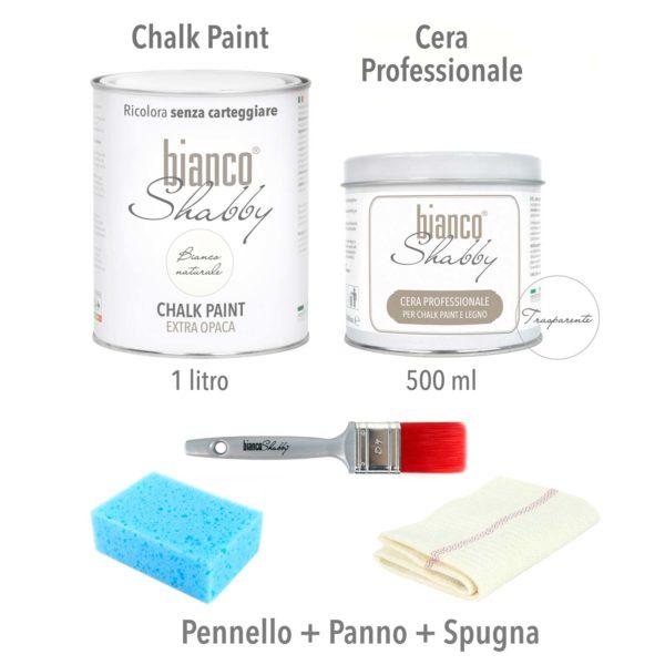 KIT Chalk Paint + Cera + Pennello