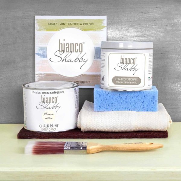 Starter Kit Con Cera Bianco Antico Min