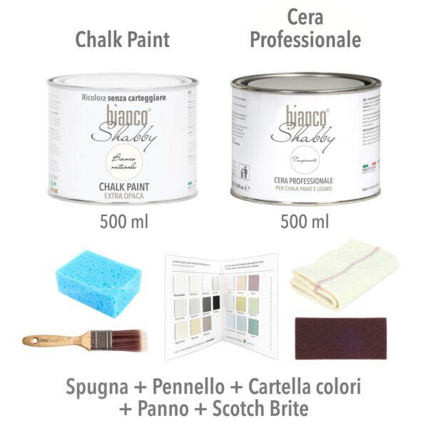 Starter Kit Con Cera Bianco Naturale Min