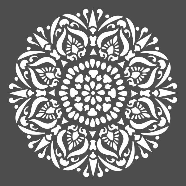 Stencil Professionale bianco shabby