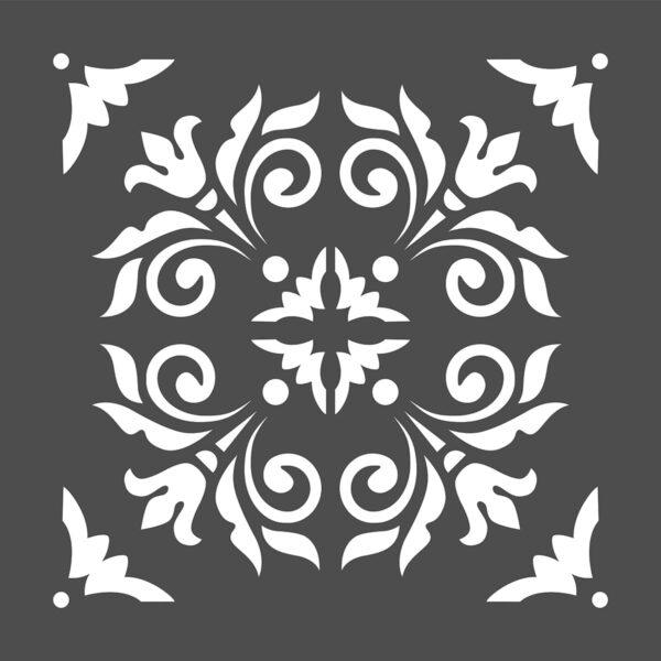 Stencil maiolica