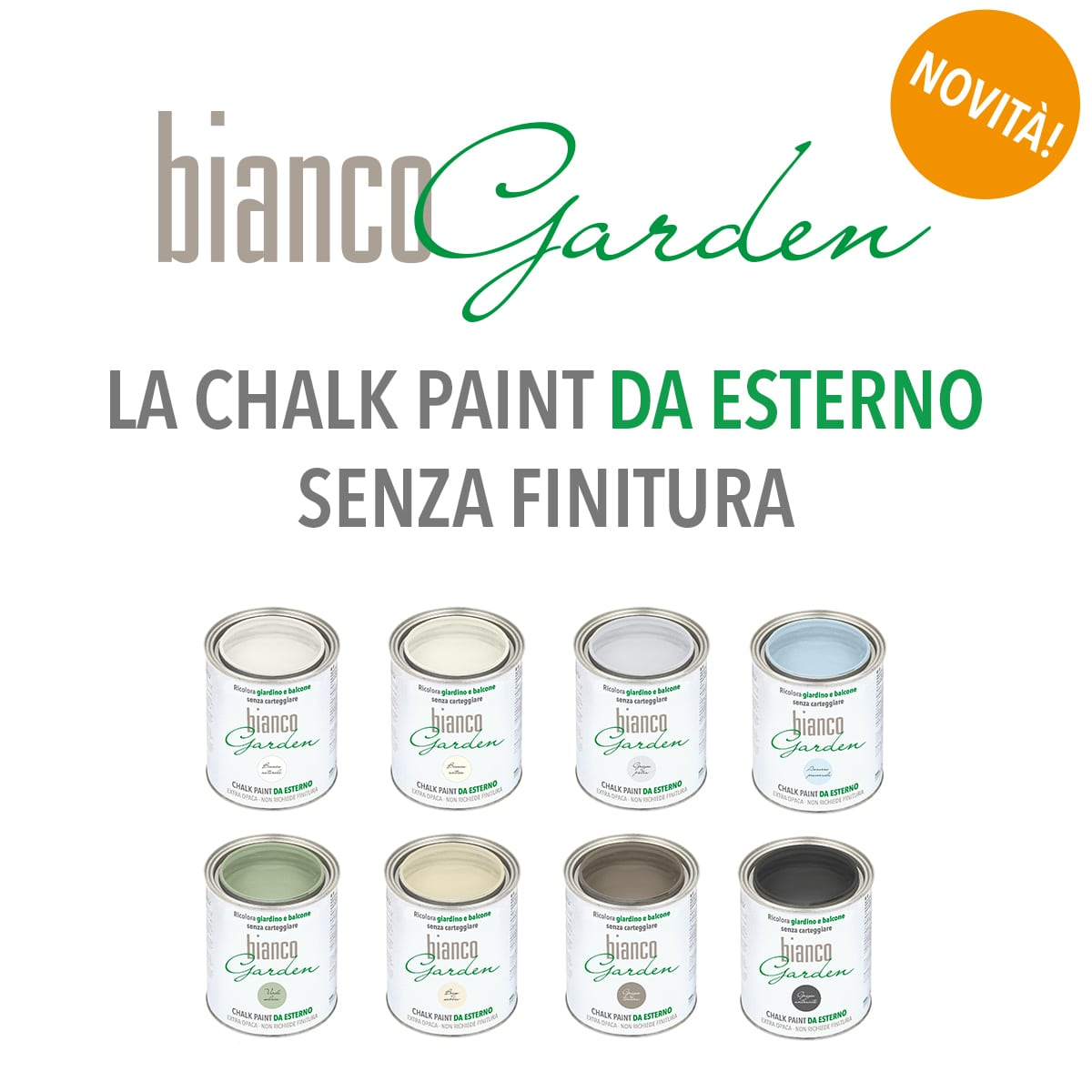 CHALK PAINT DA ESTERNO BIANCOGARDEN®