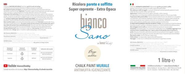 Foto Etichetta Chalk Paint Beige Sabbia