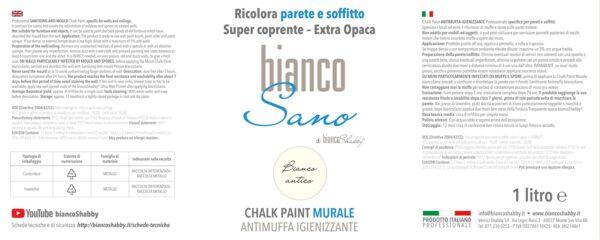 Foto Etichetta Chalk Paint Bianco Antico