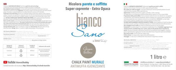 Foto Etichetta Chalk Paint Grigio Tortora