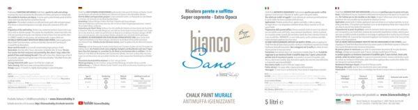 BiancoSano Etichetta 5 Litri Beige Sabbia Min