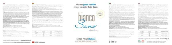 BiancoSano Etichetta 5 Litri Bianco Antico Min