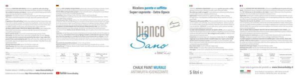 BiancoSano Etichetta 5 Litri Bianco Naturale Min