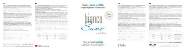 BiancoSano Etichetta 5 Litri Crema Antica Min