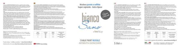 BiancoSano Etichetta 5 Litri Grigio Antracite Min