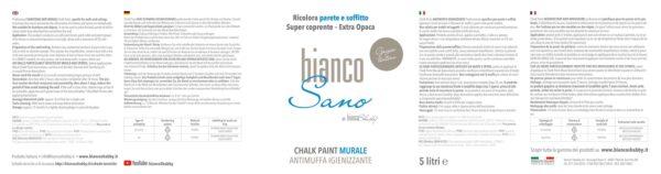 BiancoSano Etichetta 5 Litri Grigio Tortora Min