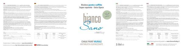 BiancoSano Etichetta 5 Litri Verde Salvia Min