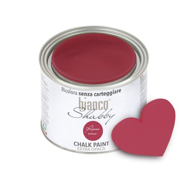 chalk paint Rosso Cina Cuore Min
