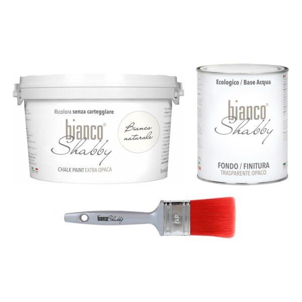 Combinato Bianco Naturale 2,5 L + Finitura 1 L + Pennello 50 Mm Min