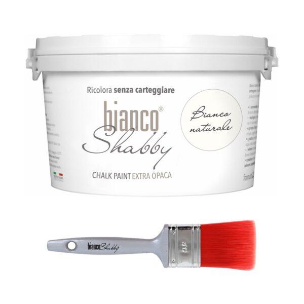 Combinato Bianco Naturale 2,5 L + Pennello 50 Mm Min